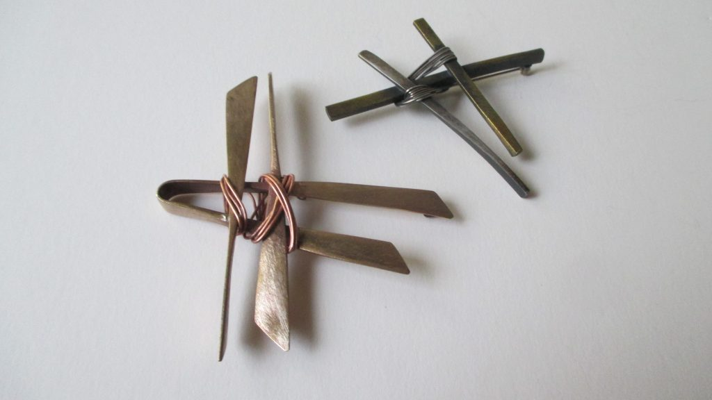 Wrapped Brooch Series.